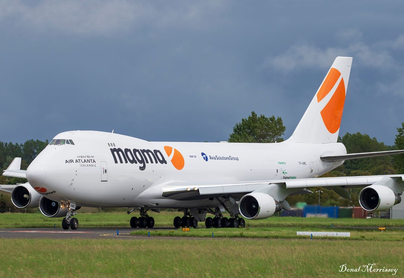 AviaAM Leasing's recently acquired Boeing 747-400F nose-loader liveried and already operational on behalf of Magma Aviation